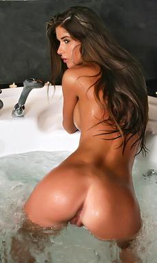 Nessa All Wet on Big Tits