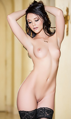 Gorgeous Black-haired Beauty Iana
